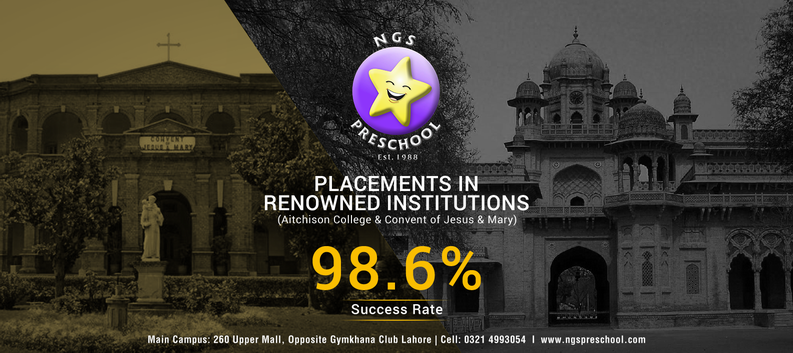 Placement in renowned institution-NGS Preschool